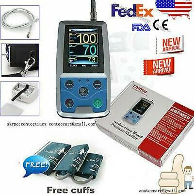 US Ambulatory Blood Pressure Monitor+USB Software 24h NIBP Holter,free 3 cuffs