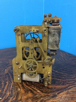 Early Type F,  Self Winding Clock Co.  Clock Movement,   Parts Only.