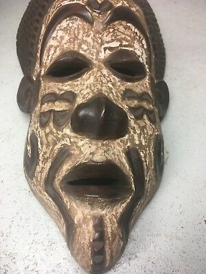 antique african tribal masks wood mask west Africa old