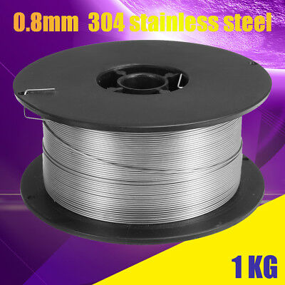 "US Roll 0.8mm/0.035"" 304 Stainless Steel Gasless Flux-Cored Mig Welding Wire 1kg"