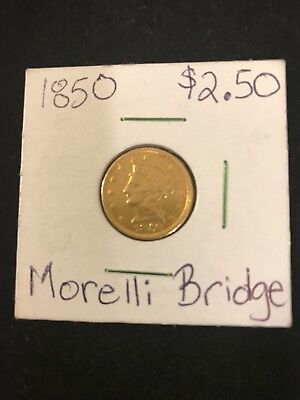 1850 Gold Quarter Eagle - Liberty Head - Montana Territory Find With a Story