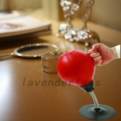 Adults Stress Relief Desktop Punching Bag Speed Punching Hit Ball With Air Pump