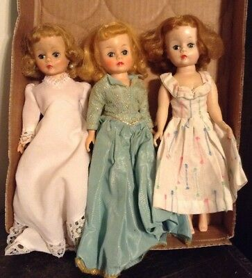 Vintage Madame Alexander 3 Cissette Doll Lot TLC