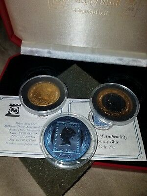 2000 Gibraltar Tuppenny Blue Three Coin Set, MAKE AN OFFER?