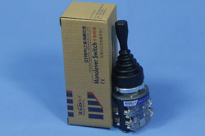 HKA1-41Y04 Monolever Joystick Switch 380V Latching AC 15 Amp 15A 4NO 4 Position