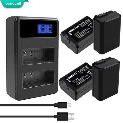 NP-FW50 Battery or Charger for Sony Alpha 7R A3000 A5000 A6000 NEX-5 a6300 SK
