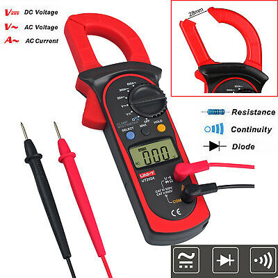 Digital Clamp Multimeter Amp Meter OHM AC Current DC Voltage Volt Tester Probe