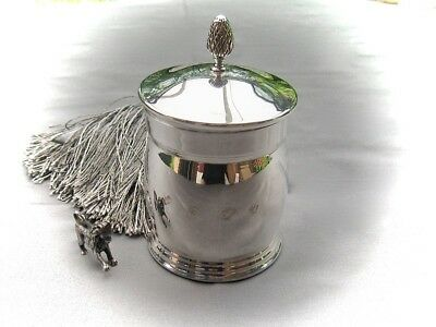 Teedose/ Tea Caddy - Sterlingsilber - Top Quality Von Mappin & Webb