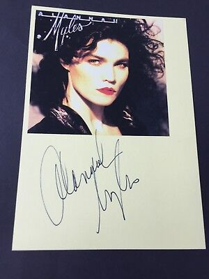 ALANNAH MYLES In-person  signed Briefkarte 15x21 Autogramm
