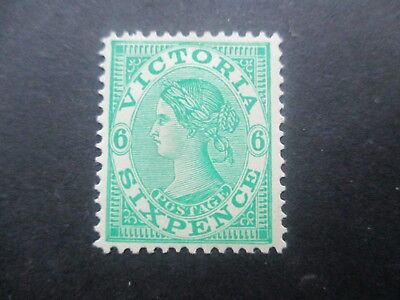 Victoria Stamps: 6d Green  Mint  (r124)