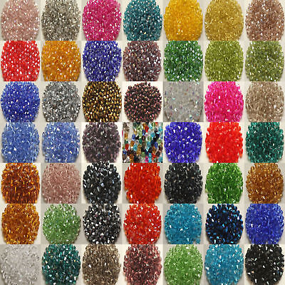 Wholesale 1000pcs bicone crystal glass 5301 # 4mm loose spacer Beads DIY hot
