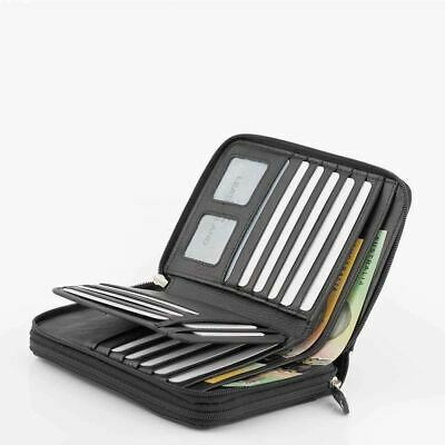 Women's Genuine Soft Leather Designer Double Zip RFID Protected Wallet/Purse N