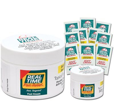 Real Time Pain Relief Foot Cream, Convenience Pack
