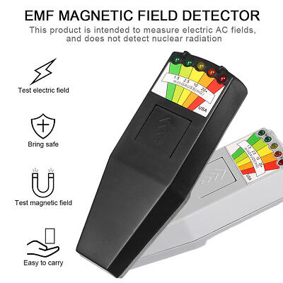 LED EMF Meter Magnetic Field Detector Ghost Hunting Paranormal Equipment Tool