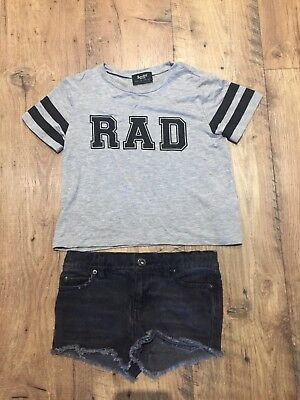 Girls bardot Shorts And Crop Tee