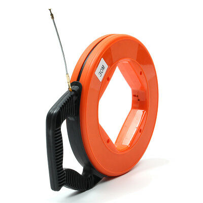 98FT Electricians Cable Pulling Fish Tape Electrical Wire Access Puller 4mm UK