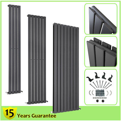 Vertical Tall Upright Flat Panel Designer Bathroom Column Radiators Anthracite