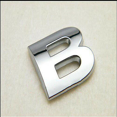 3D Silver Letter ABS Chrome Alphabet B Car Truck StickerS Emblem Badge Decals B9
