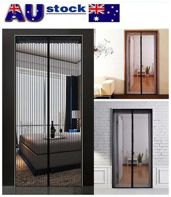 Mesh Magnetic Fly Screen Mosquito Bug Door Curtain Hands Free Auto Close AU!