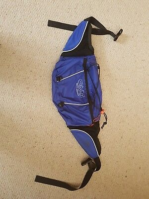 OMM original mountain marathon waist bum bag pack pouch blue 3l for running