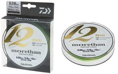Daiwa Morethan 12 Braid 0,12mm 10,2kg 135m Lime Green Geflochtene Schnur
