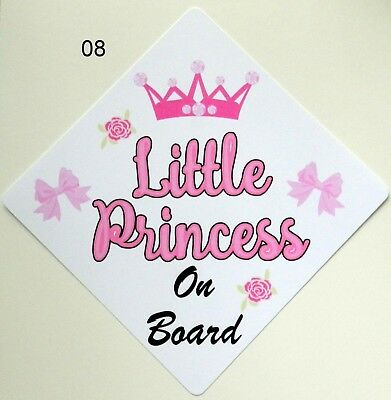 Handmade Non Personalised Little Princess Baby on Board Car Sign