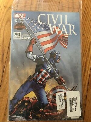 Civil War #1 Secret Wars. BAM! Variant. STILL SEALED IN ORIGINAL BAG!!