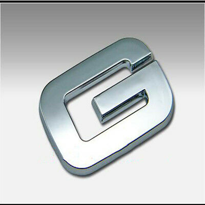 3D Silver Letter ABS Chrome Alphabet G Car Truck StickerS Emblem Badge Decals 7