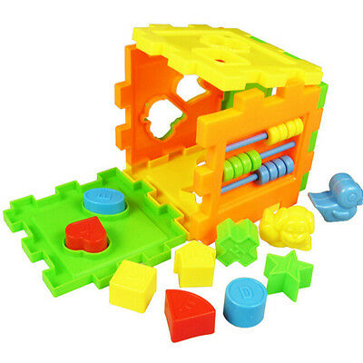 Baby Educational Toy Bricks Matching Blocks Intelligence Sorting BoxCLE