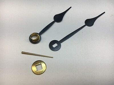 "Antique Clock Spade Hand Set with Oblong Hole for 5"" Dial with Washer and Pin"
