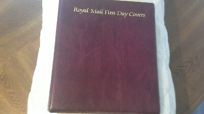 Red Royal Mail Fdc Album + 8 Pages
