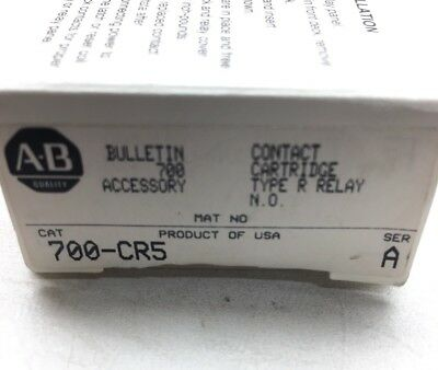 Allen Bradley 700-CR5 Bulletin 700 Contact Cartridge For Type R Relay N.O Green