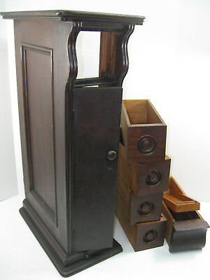 SINGER Sewing Machine Drawing Room Cabinet ~ 5 DRAWER UNIT ~ Mahogany