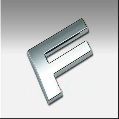 3D Silver Letter ABS Chrome Alphabet F Car Truck StickerS Emblem Badge Decals F5