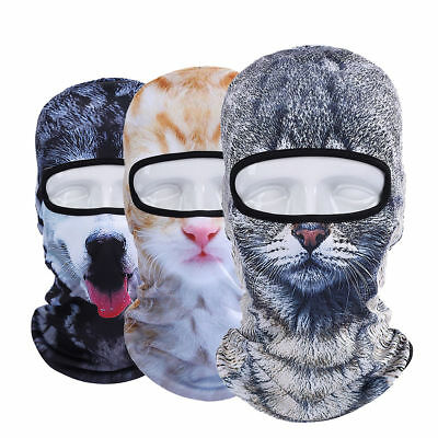 3D Animal Outdoor Bicycle Cycling Ski Hat Balaclava Full Face Mask Cat Dog Hunt