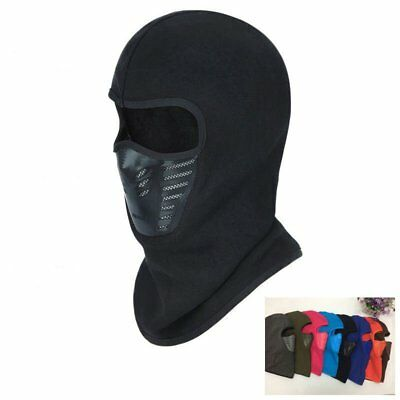 Windproof Motorcycle Face Mask Hat Neck Helmet Cap Thermal Fleece Balaclava AU