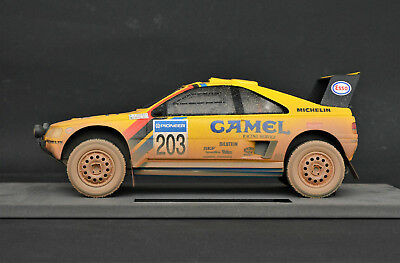 Peugeot 405 Turbo 16 Winner Rally Paris Dakar Dirty Version 1990 Vatanen 1:18