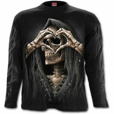 SPIRAL DIRECT DEATH ROBE  Long Sleeve T-Shirt//Biker//Skull//Reaper//Party//Goth//Top