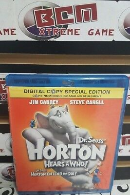 Dr. Seuss Horton Hears a Who (Blu-ray Disc, 2008, Canadian)