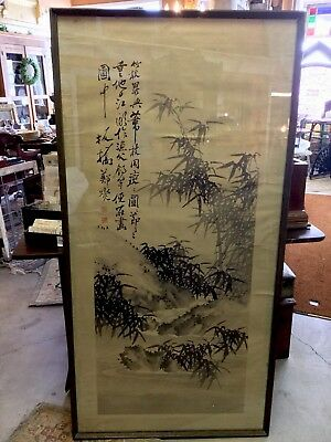 A Large Chinese Antique Ink Painting on Paper, Artist Signed.