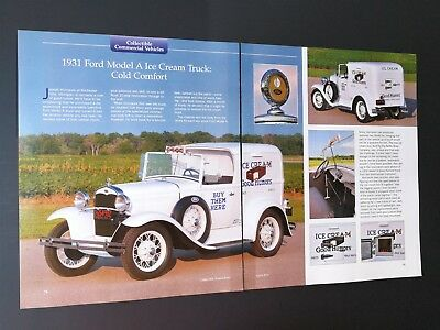 1931 Ford Model A Ice Cream Truck - Original 4 Page Article - Free Shipping