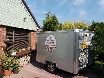 CLASSIC BOX TRAILER with that ALLOY AIR STREAM LOOK. MAKE GOOD CAMPING TRAILER