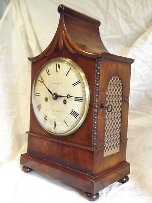 Fine Quality Mahogany Twin Fusee Bracket Clock C1830.