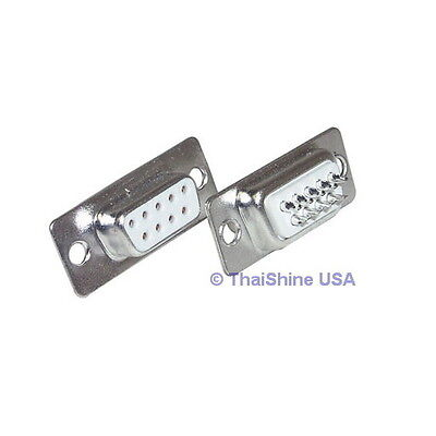 5 x D-SUB CONNECTOR 9 PINS FEMALE - USA SELLER - Free Shipping