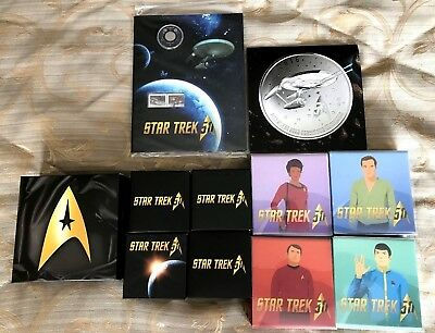 CANADA 2016 Star Trek COINS (ALL 11 ) including the Gold Coin