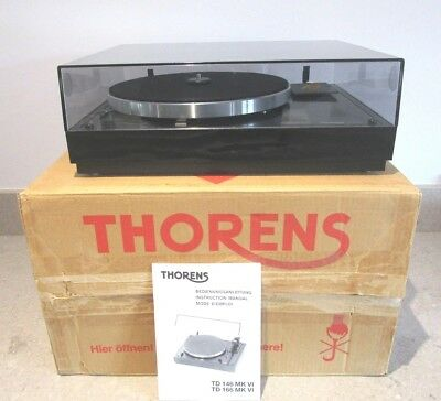 Thorens Td 166 Mk Vi Turntable And Original Dust Lid Excellent Condition In Box