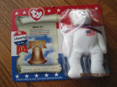 LIBEARTY the Bear TY Beanie Baby American Trio 1996 New in Orig. Pkg Retired