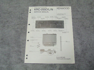 SCHALTPLAN SERVICE MANUAL Kenwood KRC-255D Autoradio Car Receiver ...