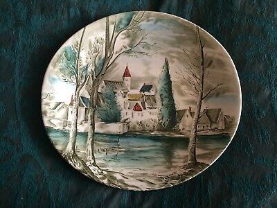 """""""DREAM TOWN"""" (colour) by JOHNSON BROS - job lot of 3x oval plates"""