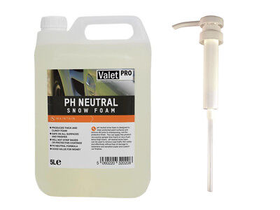 ValetPRO ph Neutral Snow foam 5L + detailmate Dosier Dispenser Pumpe Kanister